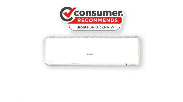 bronte indoor unit (SRK63ZRA) with consumer recommends logo