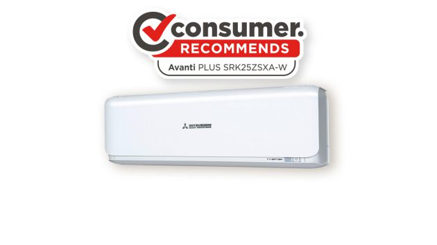 Avanti PLUS split system heat pump indoor unit with consumer logo