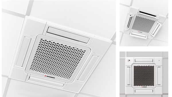 FDTC series compact ceiling cassette installed in roof