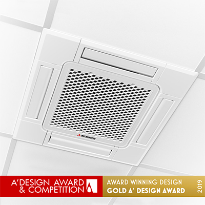 FDTC compact ceiling cassette installed in commercial space