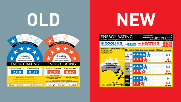 new and old energy rating labels for heat pumps thumbnail