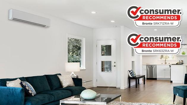 bronte split system heat pump with consumer logo