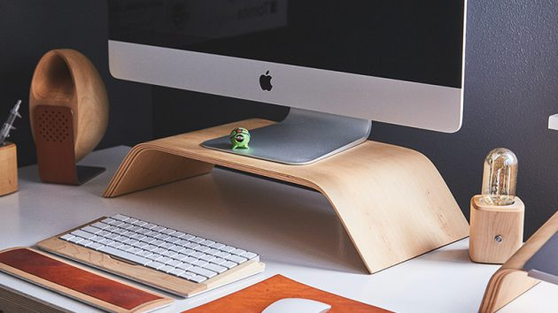 home office with mac computer