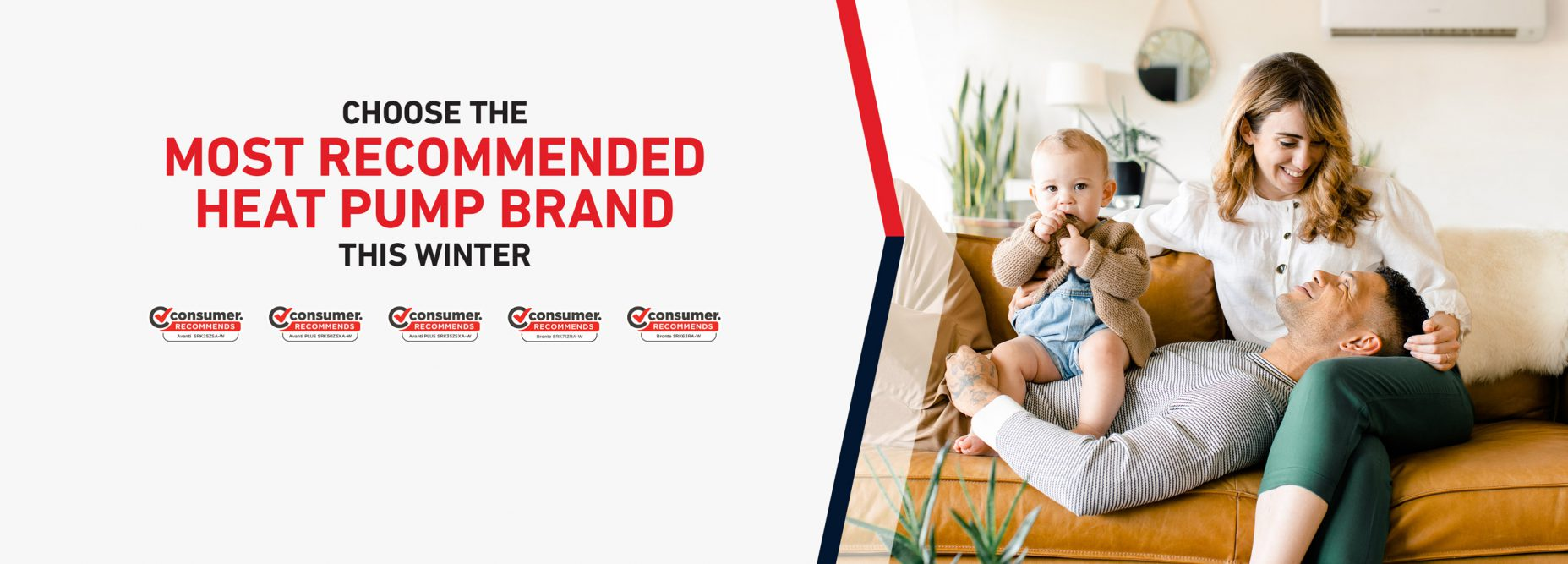 consumer recommends banner image most recommended heat pump brand